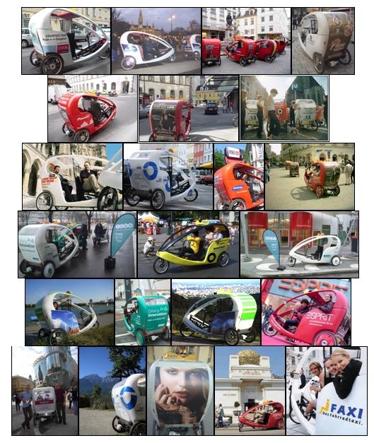 Gebrandete Faxis Fahrrad Rikscha