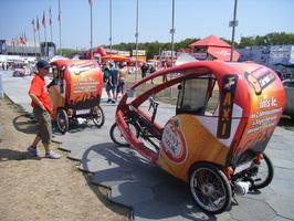 Faxi-Fahrradtaxi-Shuttle beim Sziget-Festival Budapest