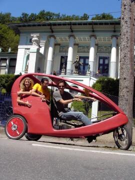 Faxi Fahrradrikscha bei Jugendstil Villa Fuchs